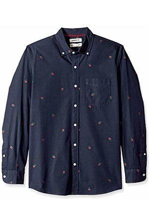 Goodthreads Men's Standard-Fit Long-Sleeve Dobby Shirt, -navy rose