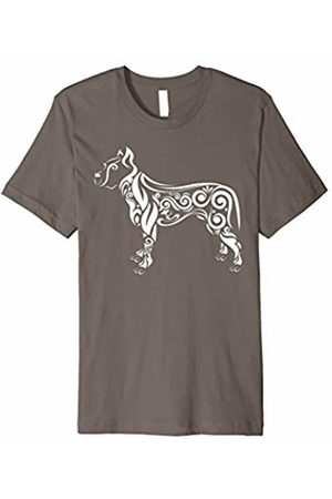New Look Pitbull Dog T-Shirt - Artistic Lace Design Pitbull