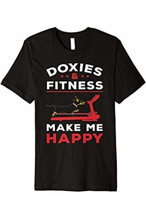 New Look Dachshund T-Shirt - Doxies & Fitness Make Me Happy Gift