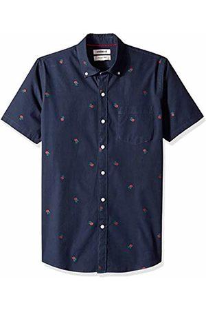 Goodthreads Men's Slim-Fit Short-Sleeve Dobby Shirt, -navy rose