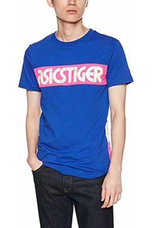 Asics Men's Colour Block Short Sleeved Tee-Border Casual Shirt, 400