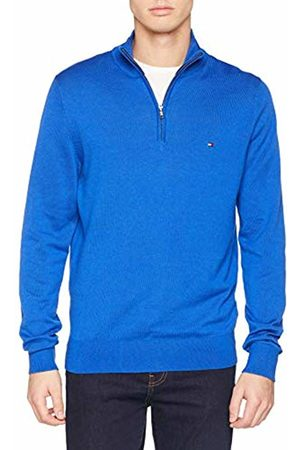 Tommy Hilfiger Men's Cotton Silk Zip Mock Jumper