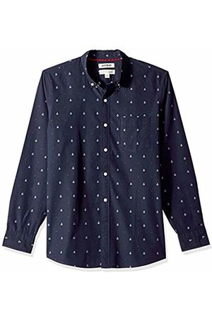 Goodthreads Men's Standard-Fit Long-Sleeve Dobby Shirt, -navy anchor