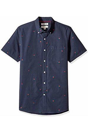 Goodthreads Men's Standard-Fit Short-Sleeve Dobby Shirt, -navy rose