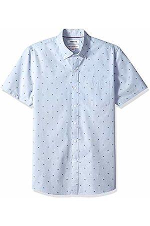 Goodthreads Men's Standard-Fit Short-Sleeve Dobby Shirt, - flower