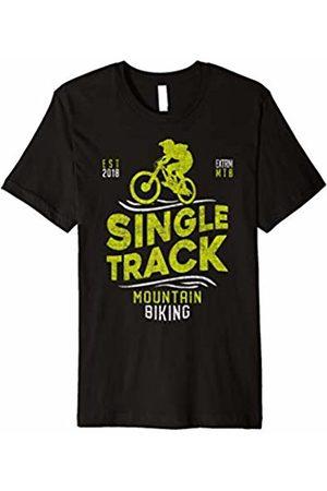 Heartbeat Mountainbike Shirt Funny Mountain Bike Heartbeat T-Shirt for MTB Bikers