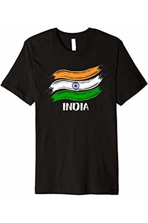 Flags of Nations T-Shirts India flag Indian T Shirt Gift Sport Fans