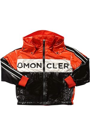Moncler Hexagon Logo Print Nylon Jacket