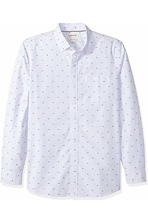 Goodthreads Men's Standard-Fit Long-Sleeve Dobby Shirt, - stripe Crabs