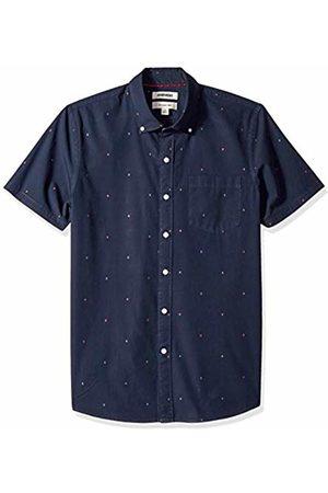 Goodthreads Men's Slim-Fit Short-Sleeve Dobby Shirt, -navy arrow