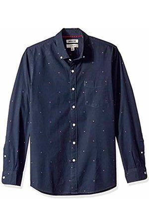 Goodthreads Men's Slim-Fit Long-Sleeve Dobby Shirt, -navy arrow