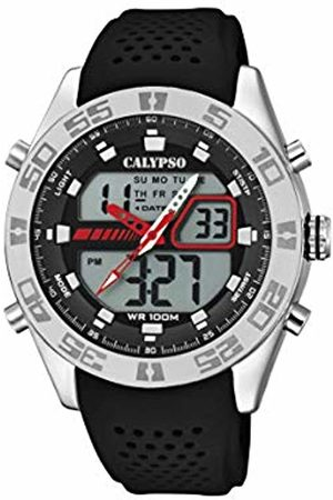 Calypso watches Mens Analogue-Digital Quartz Watch with Plastic Strap K5774/4