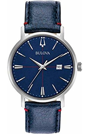 BULOVA Mens Analogue Classic Quartz Watch with Leather Strap 96B293