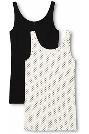 ONLY Women's Onllive Love New Long Tank Top Mix 2pk Vest, Multicoloured Pack: Plain and Cloud Dancer Small Dots