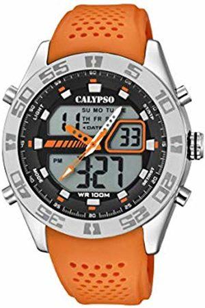 Calypso watches Men Watches - Mens Analogue-Digital Quartz Watch with Plastic Strap K5774/1