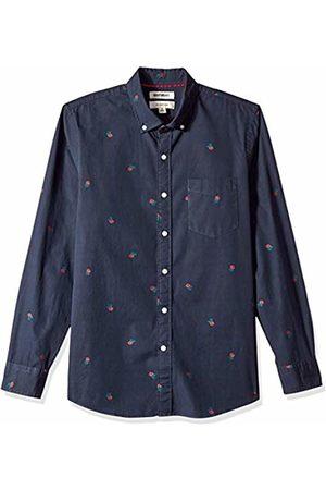 Goodthreads Men's Slim-Fit Long-Sleeve Dobby Shirt, -navy rose
