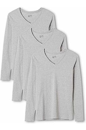 Berydale Women's Long Sleeve Shirt with V-Neck, 3-Pack, in