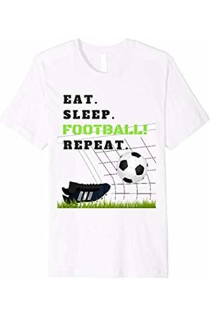 Myoan Football T-Shirts Eat Sleep Football Repeat Football Goals Tshirt