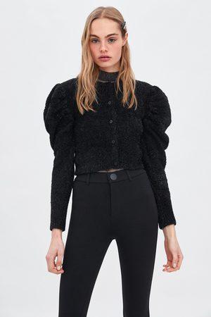 Zara Women Leggings & Treggings - Buttoned high waist leggings