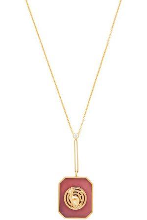 Retrouvai Lucky Token Diamond, Opal & 14kt Gold Necklace - Womens