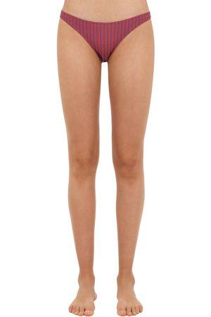 Solid Seersucker Bikini Bottoms