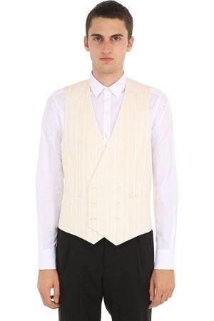 LARDINI Men Summer Jackets - Double Breasted Cotton Blend Vest