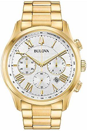 BULOVA Mens Chronograph Quartz Watch with Stainless Steel Strap 97B171