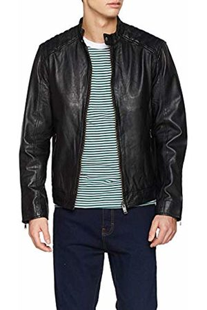 Selected Homme Men's Slh R-03 Racer Leather JKT W Noos Jacket