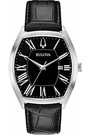 BULOVA Mens Analogue Classic Quartz Watch with Leather Strap 96B290