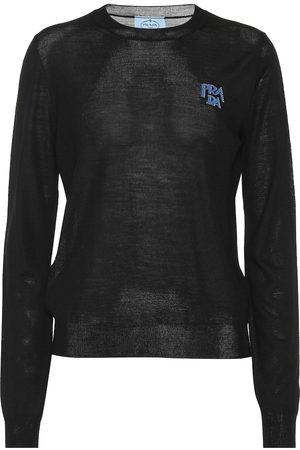 Prada Logo intarsia wool sweater