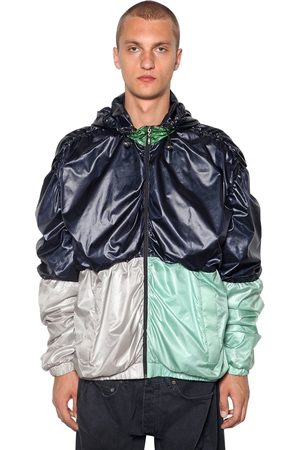 Y / PROJECT Draped Color Block Nylon Bomber
