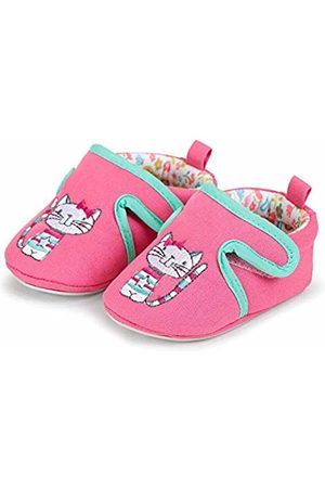 Sterntaler Girls' Baby Crawling Shoes Slippers, (Hot 718)