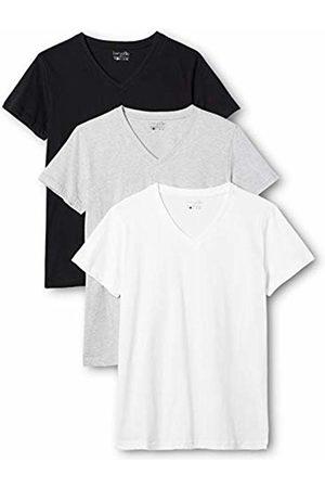 Berydale 3-Pack Women's T-Shirt V-Neck in, Multicoloured-Mehrfarbig (Schwarz/Weiß/Grau)