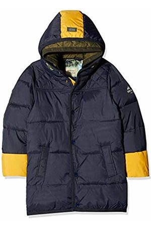 Scotch&Soda Shrunk Boy's Quilted Jacket with Contrast Colour Pop Details in Longer Le
