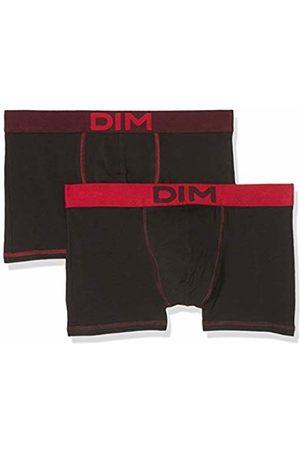 Dim Men's Boxer Mix and Colors X2 Shorts, Rouge Baiser/Noir Ct Aubergine Foncé 86w