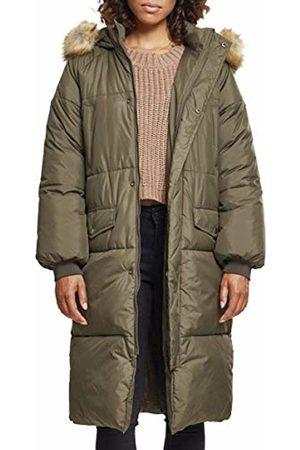 Urban classics Women's Ladies Oversize Faux Fur Puffer Coat Jacket