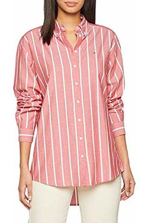 Tommy Hilfiger Women's Soft Touch Stripe Shirt Short Sleeve Blouse