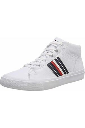 Tommy Hilfiger Men's Corporate Leather Mid Sneaker Low-Top ( 100)