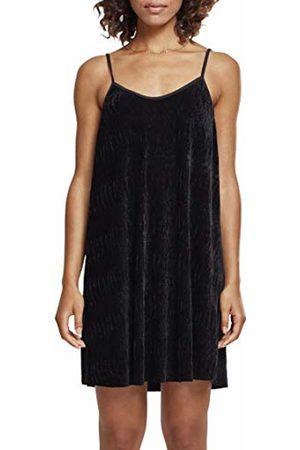 Urban classics Women's Ladies Velvet Slip Dress ( 00007)