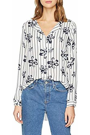 02db72da Selected Femme Women's Slfdynella AOP Ls Shirt B Blouse, (Creme AOP:AOP-