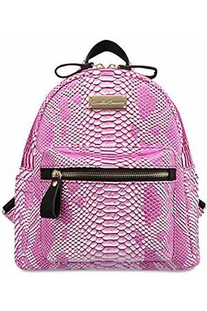 Claudia Canova Womens Small Backpack With Front Pocket Backpack (Fuchsia)
