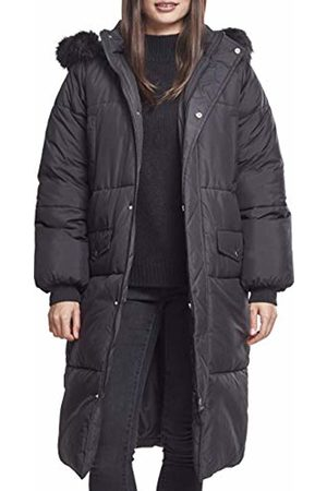Urban classics Women's Ladies Oversize Faux Fur Puffer Coat Jacket, Blk 00017