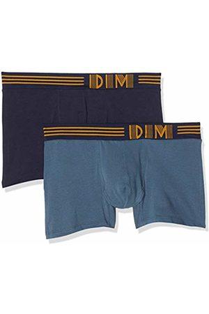 Dim Men's Boxer Soft Touch Pop Microfibre X2 Shorts, (Gris Bleu Cobalt Q)
