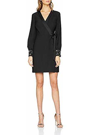 warehouse Women's Star Embellished Cuff Mini Wrap Dress, ( 77)