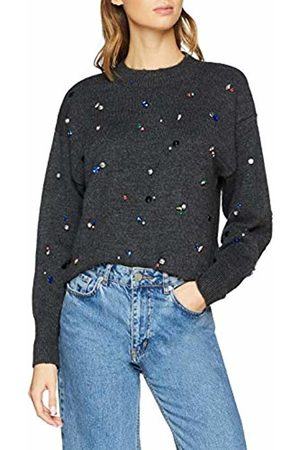 warehouse Women's Jewelled Cosy Jumper, (Charcoal 72)