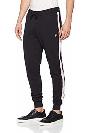 Lyle & Scott Men's Side Stripe Skinny Sweatpant Sports Jogger, (True )