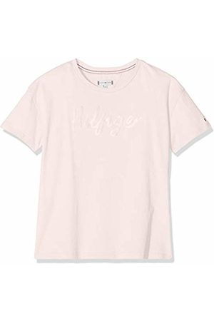 Tommy Hilfiger Girl's Sateen Logo Tee S/s T-Shirt, (Barely 617)