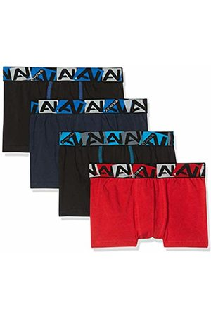 ATHENA Boy's Coton Bio Swim Trunks, Noir/Marine/Rouge 9000