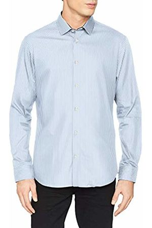 Selected Homme Men's Slhslimnew-Mark Shirt Ls B Noos Formal, (Sky Stripes)