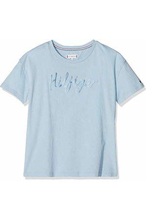 Tommy Hilfiger Girl's Sateen Logo Tee S/s T-Shirt, ( Bell 416)